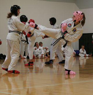 Black belt sparring
